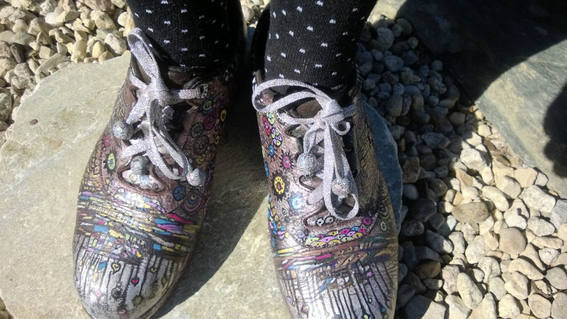 decorated shoes